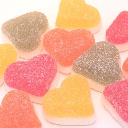 Afbeelding van Vruchten harten doublé 4 kleuren