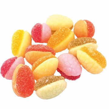 Afbeeldingen van Fruit fondant eitjes doublé