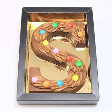 Afbeeldingen van Chocoladeletter GK1 Lentilles S