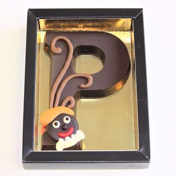 Afbeeldingen van Chocoladeletter GK1 puur