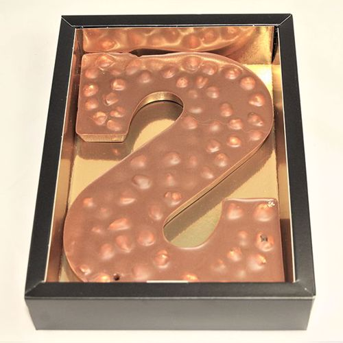 Afbeelding van Chocoladeletter GK7 Hazelnoot S