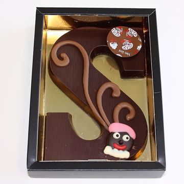 Afbeeldingen van Chocoladeletter GK7 puur