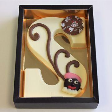 Afbeeldingen van Chocoladeletter GK7 wit