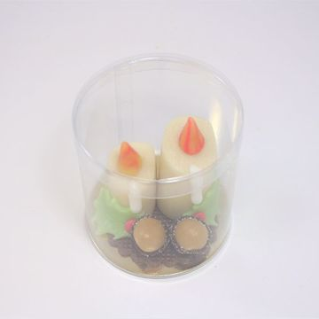 Afbeeldingen van Twee kaarsen met hulst