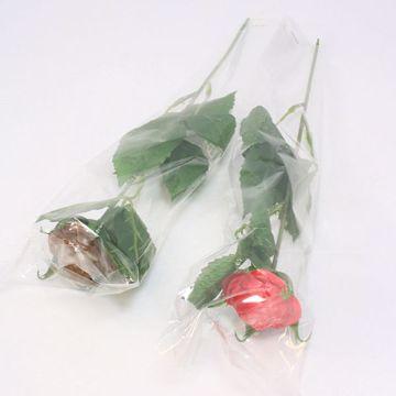 Afbeeldingen van Chocolade roosjes in folie
