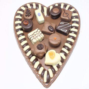 Afbeeldingen van Hart met 11 bonbons