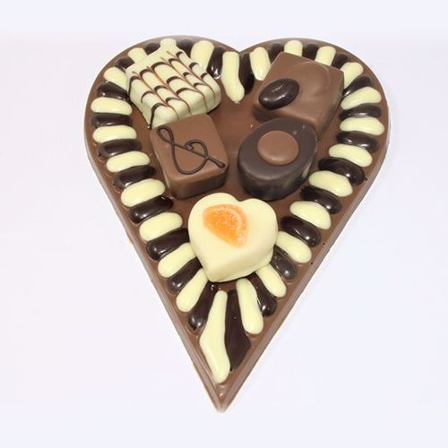 Afbeelding van Hart met 5 bonbons