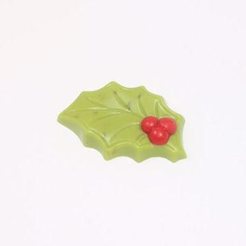 Afbeeldingen van Hulstblaadjes groen/ nougat