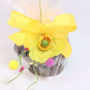 Afbeeldingen van Opgemaakt ei met bonbons 12 cm